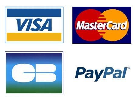Paiement Sécurisé ( CB via Paypal, Paypal , Virement , Chèque )  L'inscription sur Paypal est facultative  pour un paiement en CB